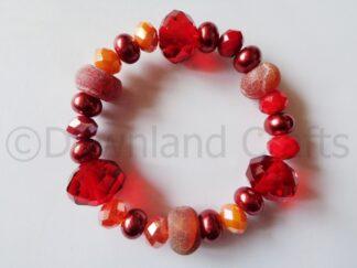 Russet Agate Kathy Stretch Bracelet 1