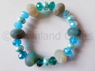 Turquoise Agate Kathy Stretch Bracelet 1