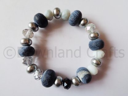 Monochrome Agate Kathy Stretch Bracelet 2