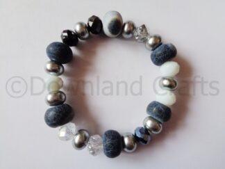 Monochrome Agate Kathy Stretch Bracelet 3