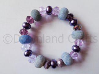 Purple Agate Kathy Stretch Bracelet 1