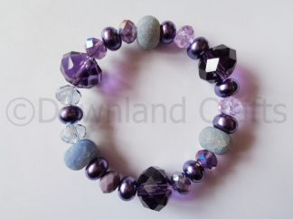 Purple Agate Kathy Stretch Bracelet 2