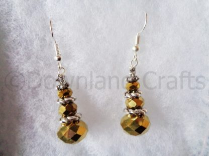 Gold Crystal Tree Earrings