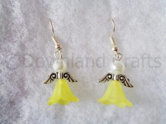 Yellow Molly Angel Earrings