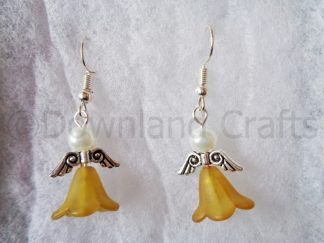 Mustard Molly Angel Earrings