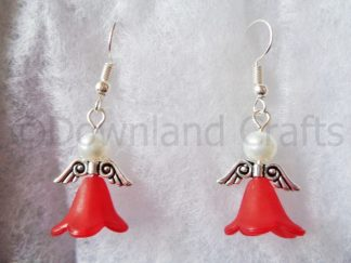 Red Molly Angel Earrings