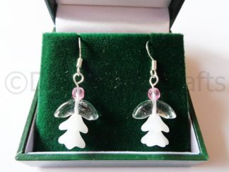 Clear Donna Angel Earrings