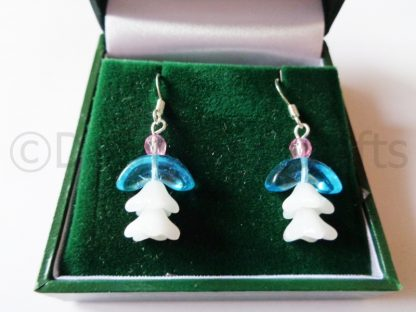 Blue Donna Angel Earrings