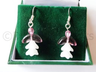 Pink Donna Angel Earrings