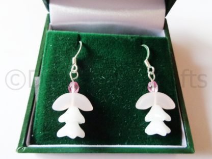 Frosted Pink Donna Angel Earrings