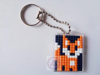 Fox Cub Mini Mosaic Keyring
