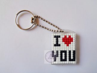 I Love You Mini Mosaic Keyring