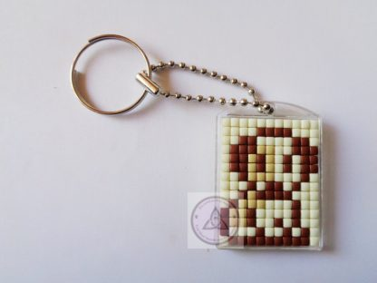 Dog Mini Mosaic Keyring