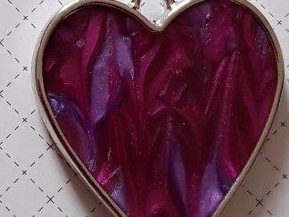 Two-Tone Marbled Purple Heart Pendant