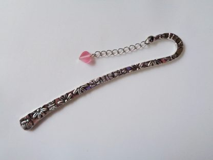 Butterfly Bookmark Large Pink Heart