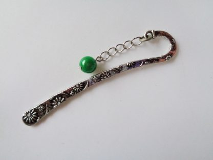 Butterfly Bookmark Small Green Round