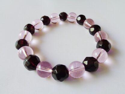 Glass Round Bracelet - Pink