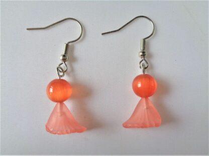 Halloween Earrings - Orange Ghosts