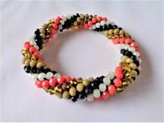 Crochet Spiral Bracelet - Autumn