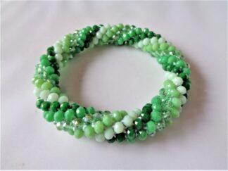 Crochet Spiral Bracelet - Green