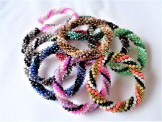 Crochet Spiral Bracelets