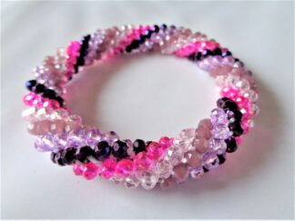 Crochet Spiral Bracelet - Purple