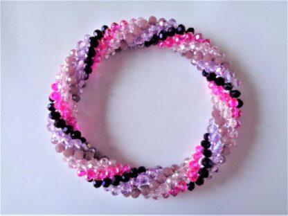 Crochet Spiral Bracelet - Purple