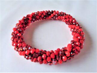 Crochet Spiral Bracelet - Red