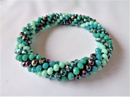 Crochet Spiral Bracelet - Teal
