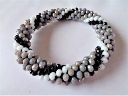 Crochet Spiral Bracelet - Grey