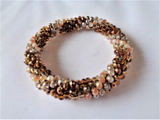 Crochet Spiral Bracelet - Bronze