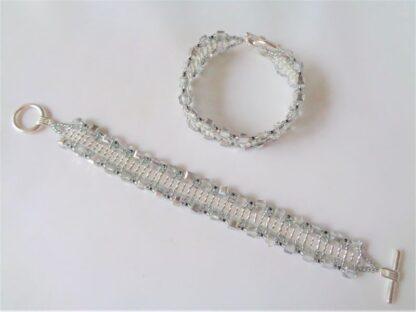 Crystal Cube Bracelet - Silver