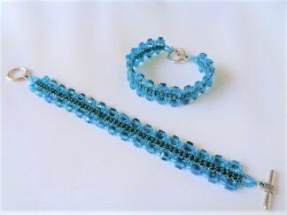 Crystal Cube Bracelet - Teal